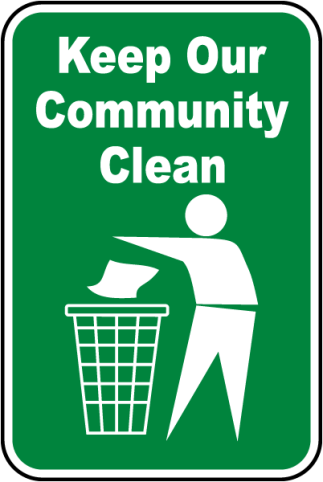 Keep our community clean.